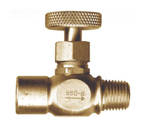 Gas-Flo Brass Female Pipe x Male Pipe Precision Needle Valves - Female to Male - 1/4""