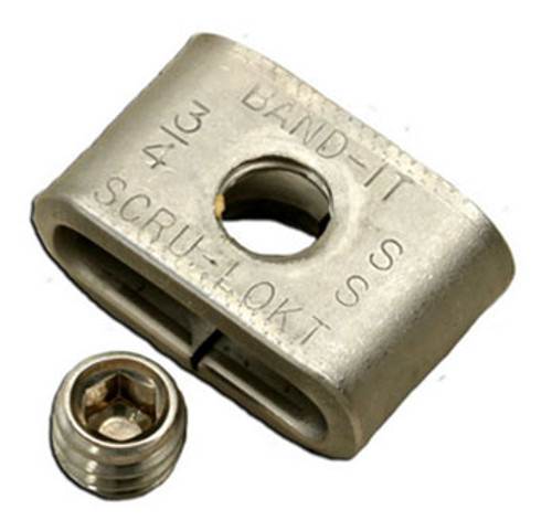 BAND-IT 1/2 in. Scru-Lokt Style Stainless Steel Buckles - 25 QTY