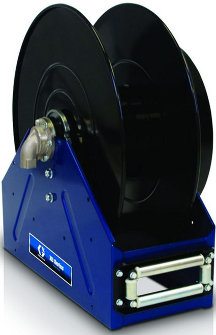 Graco XD 50 1 in. x 100 ft. Heavy Duty Spring Driven Fuel Hose Reels (Blue) - Bare Reel