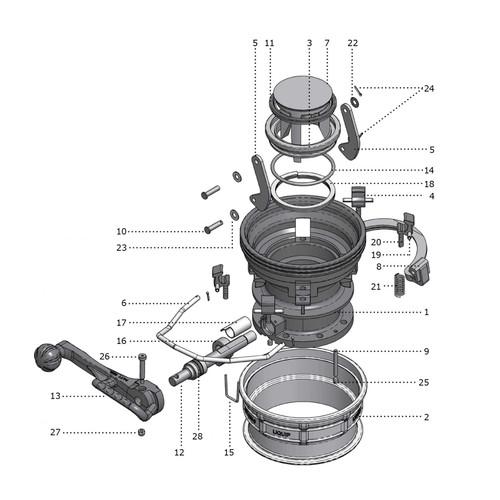 OPW Lynx Coupler Parts - GFLT Viton Seal Kit Color: Light Grey