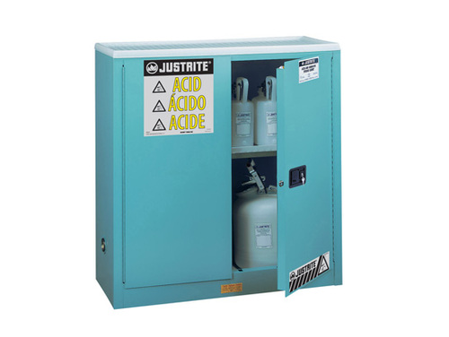 Justrite Sure-Grip Ex 90 GallonClassic Safety Cabinet for Corrosives - Self-Close
