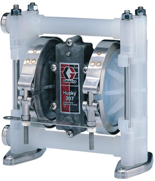 Husky 307 Poly Air 3/8 in. Diaphragm Pump w/ Poly Seats, TPE Balls & Dia. - 7 GPM