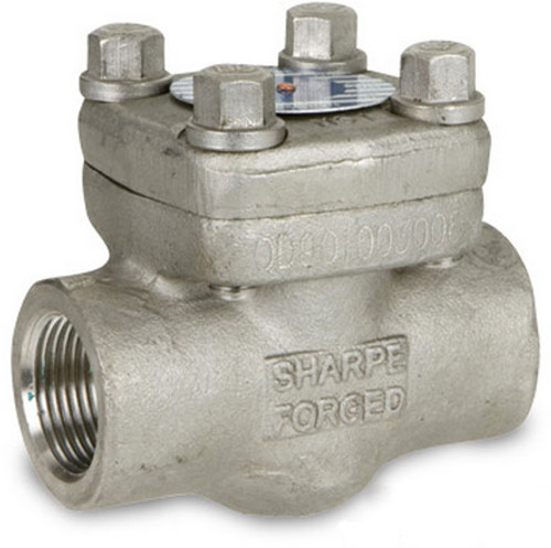 Sharpe Class 800 1/2 in. NPT Threaded Forged 316L Stainless Piston Check Valve