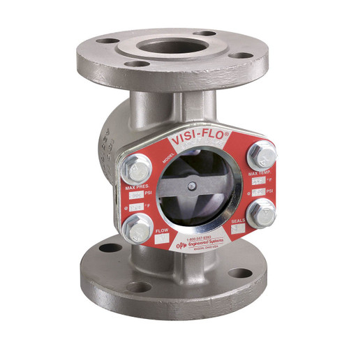 OPW 1 in. Carbon Steel VISI-FLO 1400 Series Flanged Sight Flow Indicators w/ Flapper