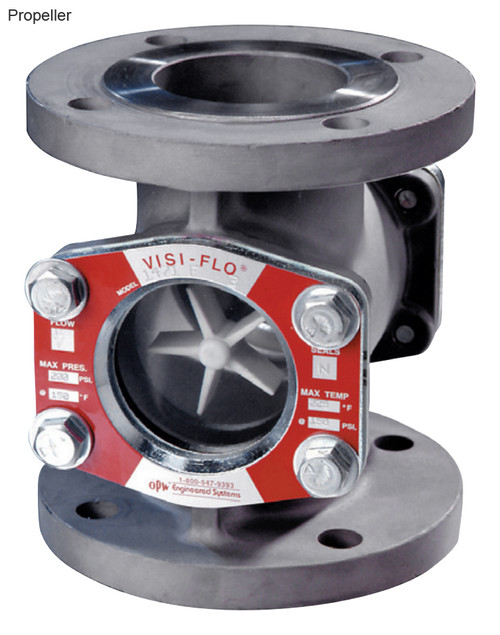 OPW 1 1/2 in. 316 Stainless Steel VISI-FLO 1500 Series Flanged Sight Flow Indicators w/ Propeller