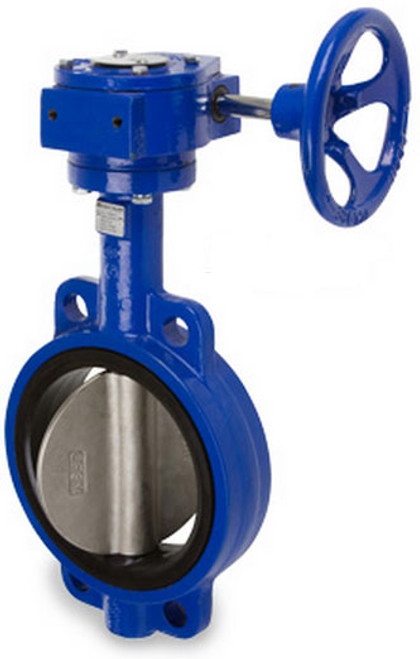 Sharpe 17 Series 8 in. Ductile Iron Gear Operated Butterfly Valve w/Nitrile Rubber Seals & SS Disc, Wafer Style