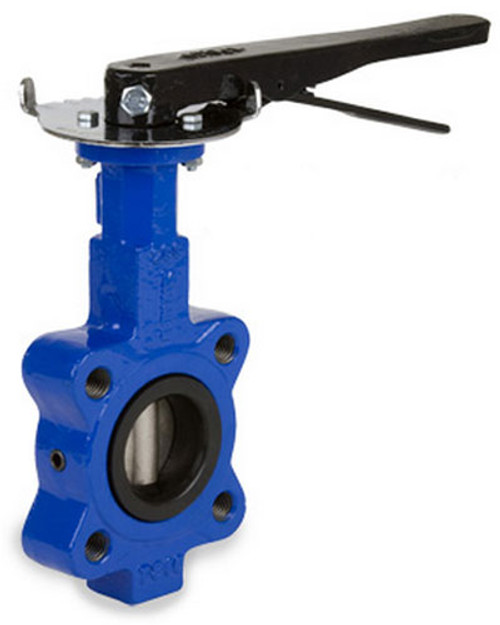 Sharpe 17 Series 4 in. Ductile Iron Lever Operated Butterfly Valve w/Nitrile Rubber Seals & SS Disc, Lug Style