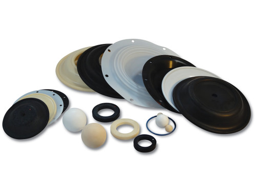 Nomad Elastomer Replacement Nitrile Rubber Valve Seats for Wilden 1 1/2 in. AODD Pumps - 04-1120-52