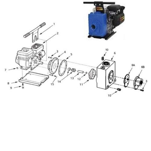 "AMT Seal Kit (Viton 3/4"" Shaft) for 422 Series 2"" Dewatering Pumps - Seal Kit - Viton 3/4"" Shaft - 5 6A 12 13 14"