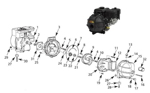 "AMT Seal Kit (Buna-N) for 382 Series 2"" Poly Dewatering Pumps"
