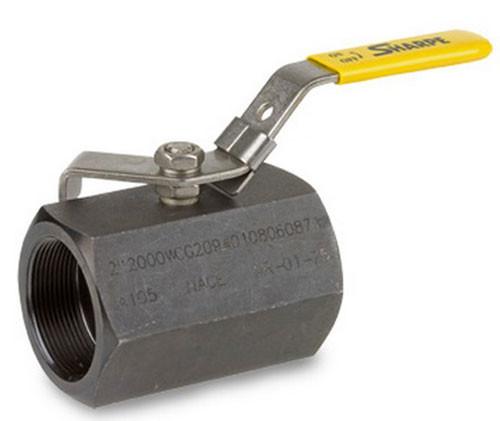 Sharpe Carbon Steel 2000 WOG Standard Port Locking Ball Valve -Threaded - 1 1/2 in.