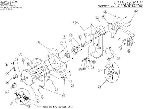 Coxreels SH-N MP-N & HP-N Series Parts