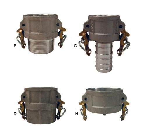 Dixon 4 in. Aluminum Boss-Lock Cam & Groove Couplers