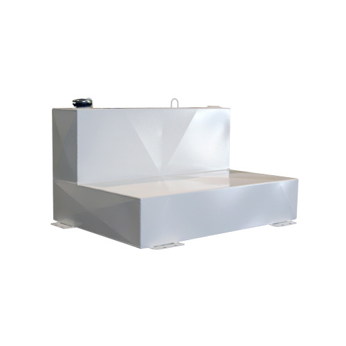 Better Built HD Series L-Shaped 75 Gallon White Steel Transfer Tank