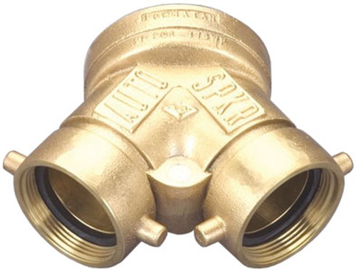 Dixon 2 1/2 in. NH (NST) x 4 in. NPT Auto Sprinkler Single Clapper Siamese Connections- Back Outlet