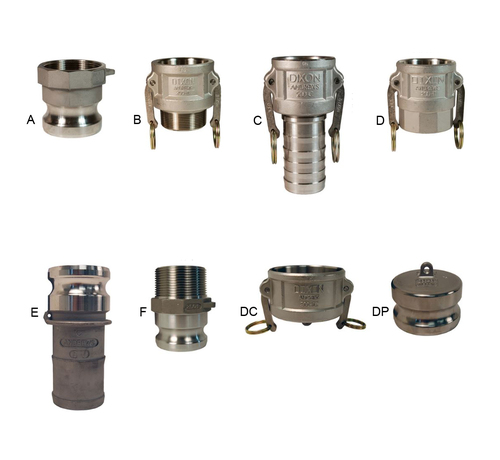 Dixon 4 in. Stainless Steel Cam & Groove Quick Couplings