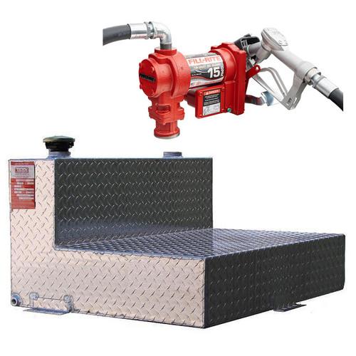 DOT Certified For Gas Or Diesel 48 Gallon Transfer Tank w/ Fill-Rite FR1210 Pump
