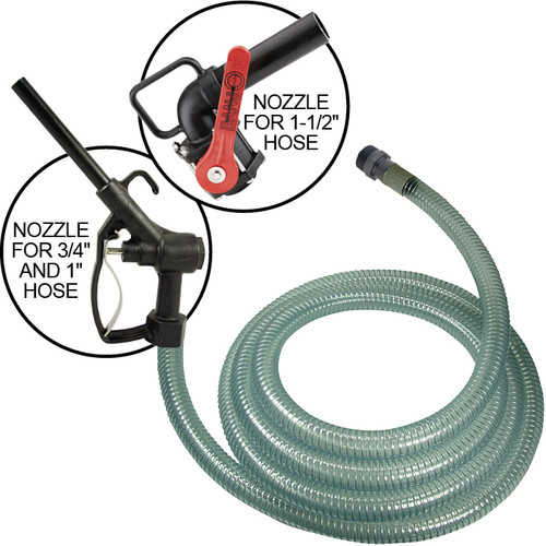 1 in. PVC DEF Hose Assembly Male NPT Fitting X Nozzle