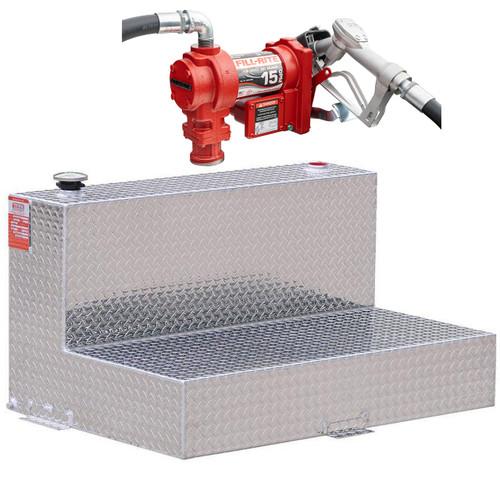 DOT Certified For Gas Or Diesel 95 Gallon Transfer Tank w/ Fill-Rite FR1210 Pump