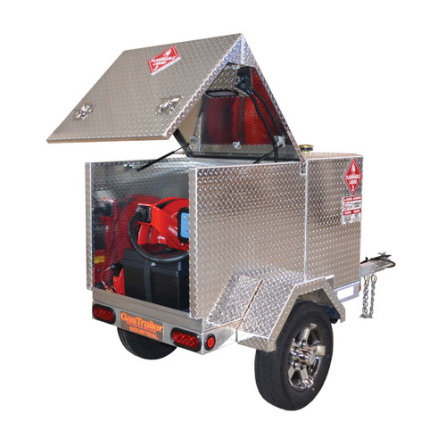 GasTrailer Pro 110 Industrial DOT Approved Portable Gas Trailer - 15 GPM 12V DC Pump