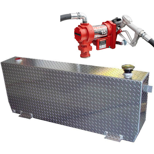 DOT Certified For Gas Or Diesel 51 Gallon Transfer Tank w/ Fill-Rite FR1210 Pump