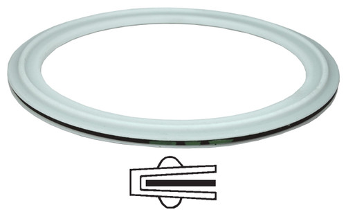 Dixon Sanitary PTFE Envelope Clamp Gaskets w/ EPDM Filler