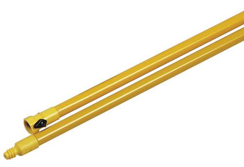 Carlisle Sanitary Maintenance Products Fiberglass 60 in. Flo-Thru Handle w/ NPT Thread & Shut-Off Valve