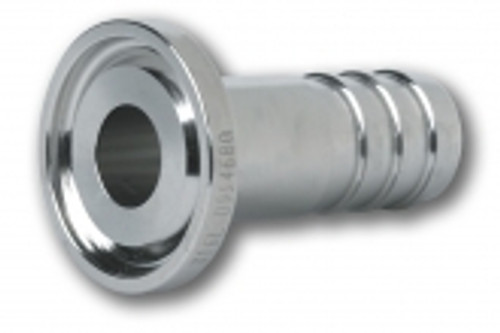 Rubber Fab 316 Stainless Steel Tri-Clamp® x 1 in. Hose Barb Adapters  w/ Electropolishing
