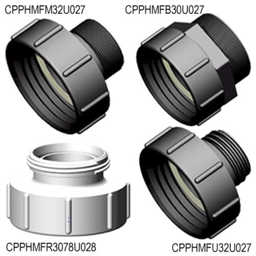 Part HA S100X8 Female Buttress x Male Thread IBC Adapters