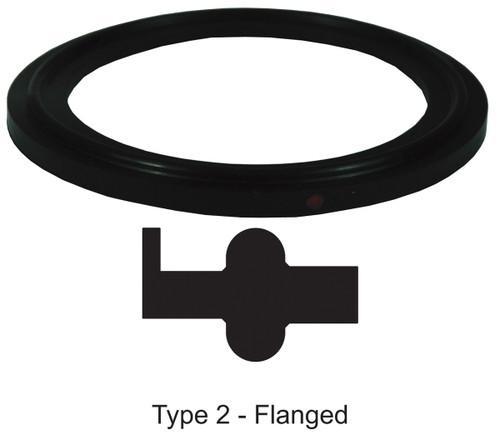 Dixon Sanitary Flanged Buna-N Gaskets - Black