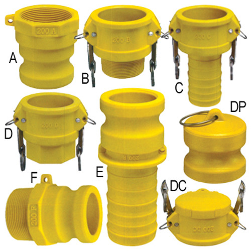 4 in. Glass Reinforced Nylon Quick Couplings