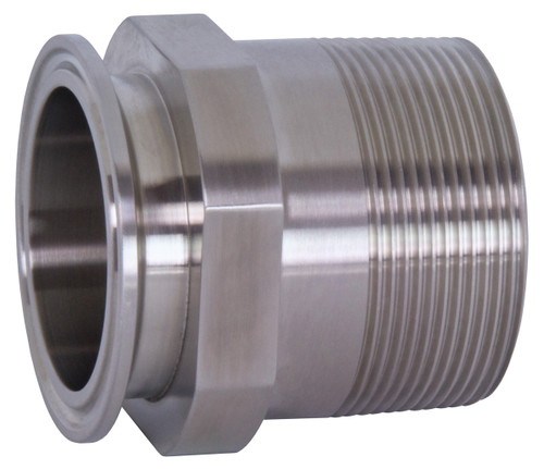 Dixon Sanitary 21MP Series 316L Stainless 1 1/2 in. Clamp x Male NPT Adapters
