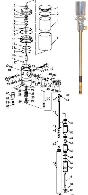 Liquidynamics 90:1 Grease Pump Parts