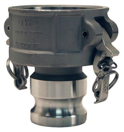 Dixon Aluminum EZ Boss-Lock Reducing Female Coupler x Male Adapter