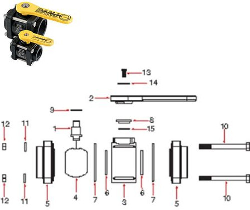 Banjo Poly 1/2 in. - 2 in. 4 Bolt Ball Valve Repair Kits