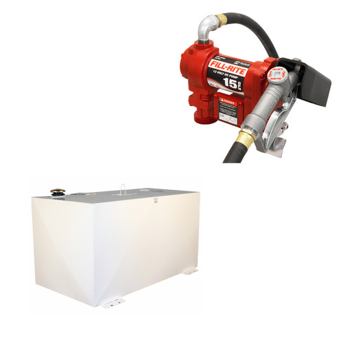 Better Built HD Series 100 Gal Steel Transfer Tank w/ Fill-Rite 1210G Pump Package
