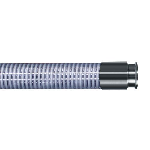 Kuriyama MILK Series 1 1/2 in. Food Grade PVC Liquid Suction Hose Assemblies w/ Triclamp Ends