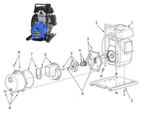 "AMT/Gorman-Rupp 4381 & 4382 1"" Dewatering Pump Parts"