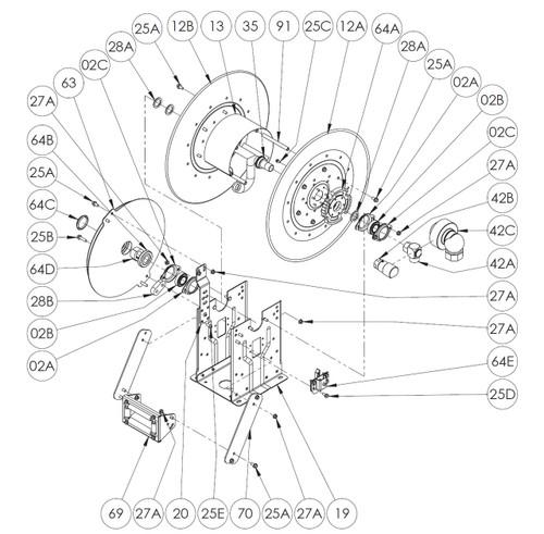 N600/ N700/ N800 Series Spring Rewind Reel Parts