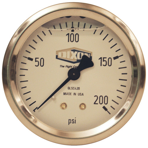 Dixon 2 1/2 in. Center Back Mount Liquid Filled Stainless Case Gauges