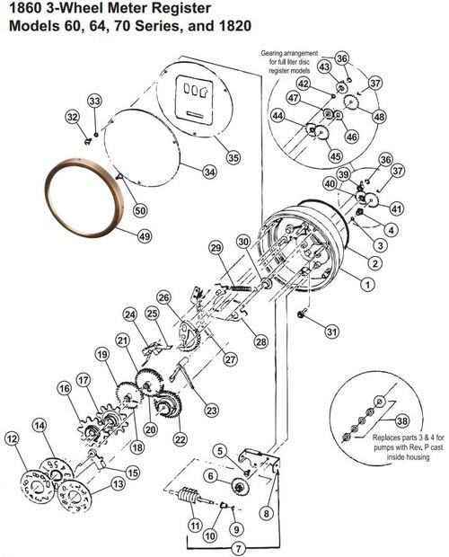 Svi Inc Repair Kit For Gasboy 1860 Register