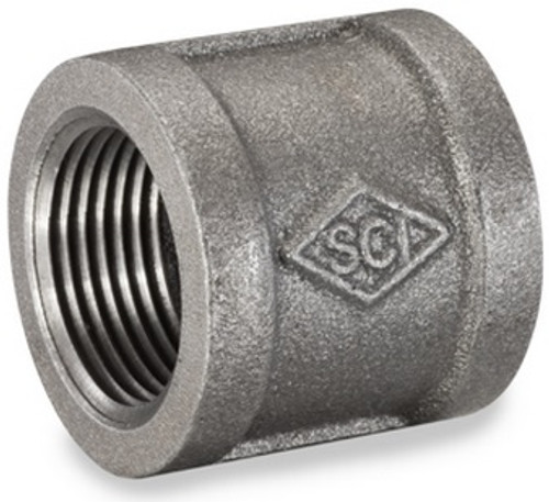 Smith Cooper 150# Black Malleable Iron 1/8 in. Banded Coupling Pipe Fittings - Threaded
