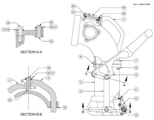 60TTF Product Drop Elbow Parts