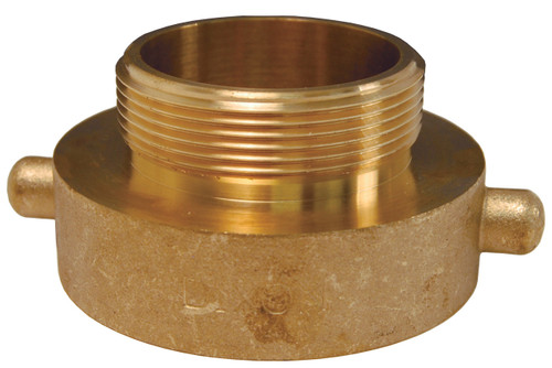 Dixon 3 in. Female x Male Brass Pin Lug Hydrant Adapters