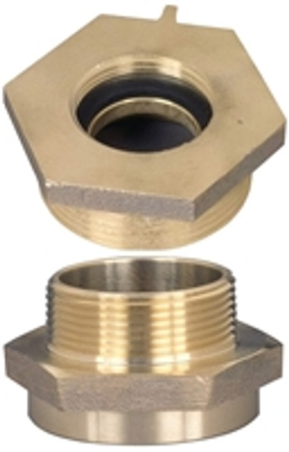 Dixon Brass 2 in. Female to Male Hex Nipples