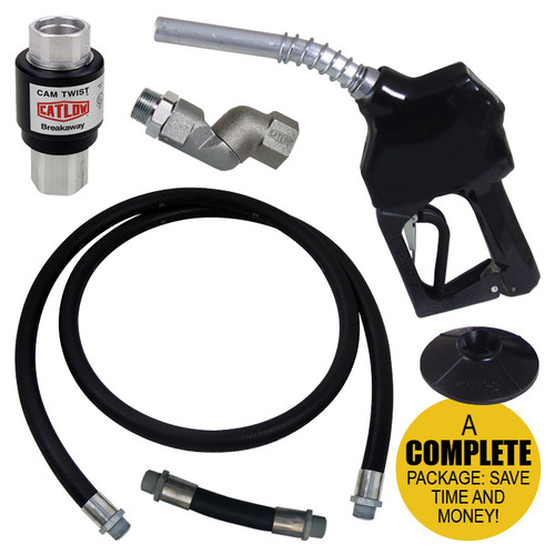 Complete Unleaded Nozzle Swivel 3/4 in. Hose Set w/ Magnetic Breakaway Assembly