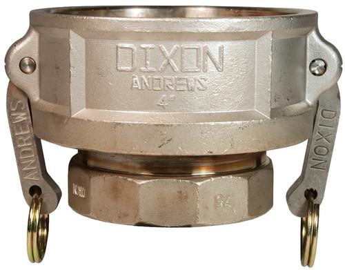 Dixon Stainless Steel Part D Reducing Female Coupler x Female NPT Coupler