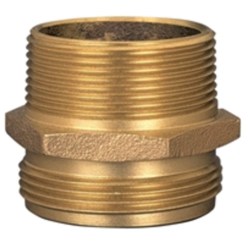 Dixon Brass 2 1/2 in. Male to Male Hex Nipples
