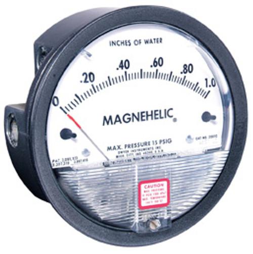 Dwyer Magnehelic Gauge, 1/8 in. FNPT w/ 4 in. Dial