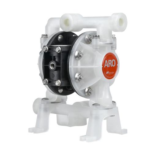 ARO 1/2 in. Non-Metallic Groundable Acetal Air Diaphragm Pump w/ PTFE / Santoprene Diaphragm